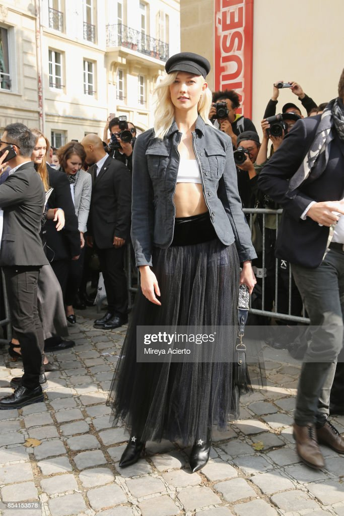 Model Karlie Kloss attends the Christian Dior show as part of the Paris Fashion Week Womenswear Spring/Summer 2018 on September 26, 2017 in Paris, France.