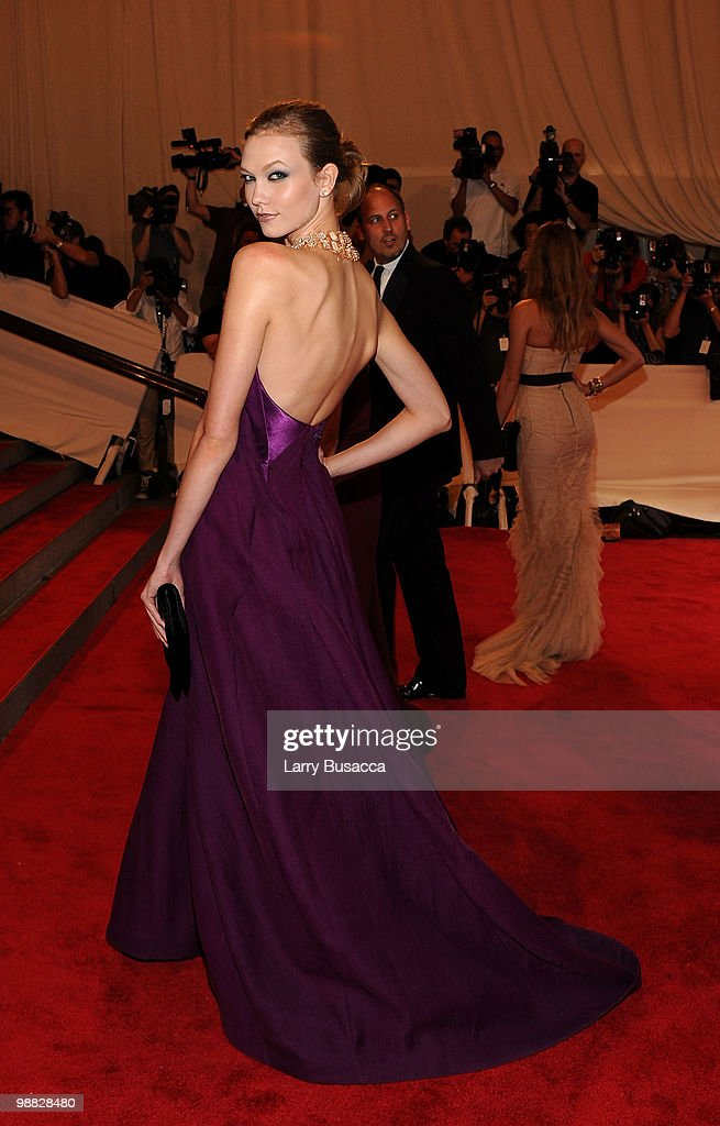 Model Karlie Kloss attends the Costume Institute Gala Benefit to celebrate the opening of the 'American Woman: Fashioning a National Identity' exhibition at The Metropolitan Museum of Art on May 3, 2010 in New York City.