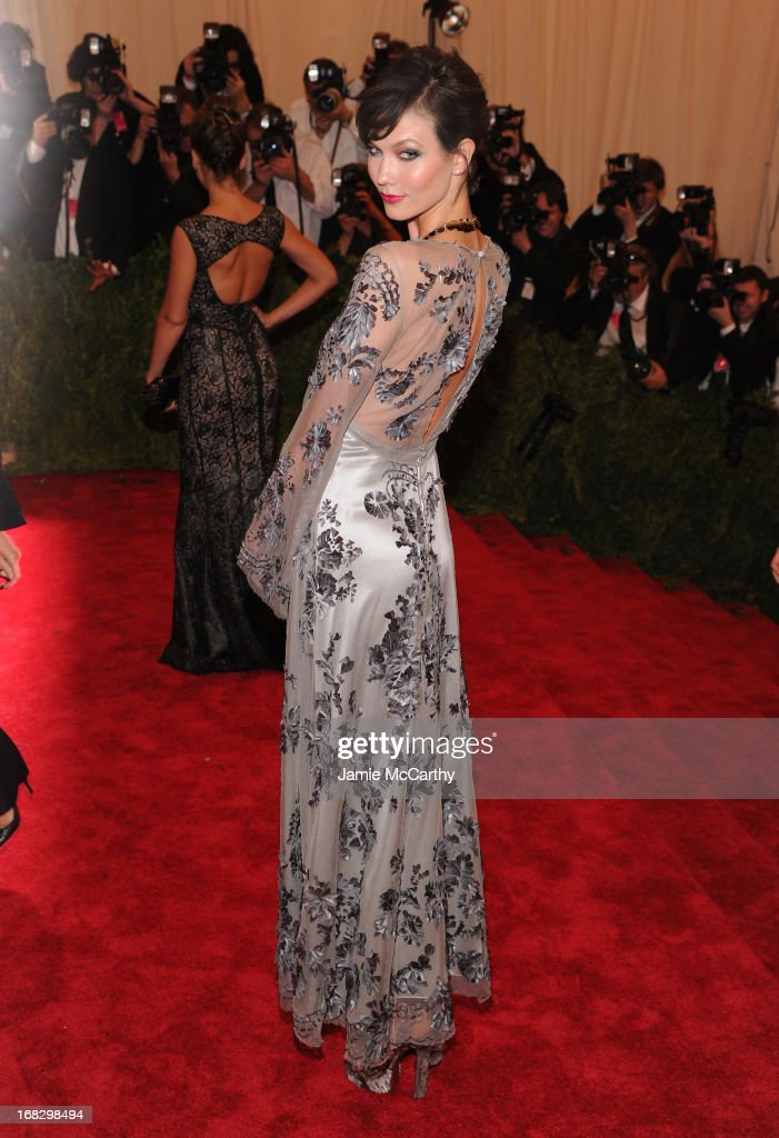 Model Karlie Kloss attends the Costume Institute Gala for the 'PUNK: Chaos to Couture' exhibition at the Metropolitan Museum of Art on May 6, 2013 in New York City.