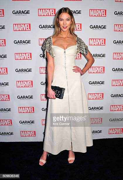 Model Karlie Kloss attends the Marvel and Garage Magazine New York Fashion Week Event on February 11 2016 in New York City