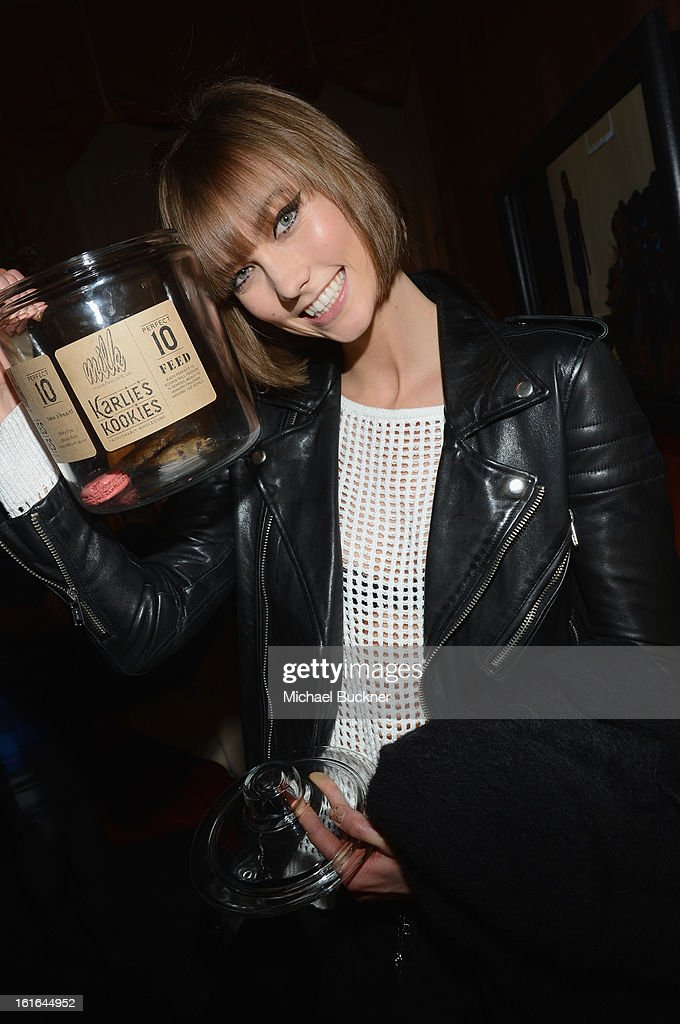 Model <a gi-track='captionPersonalityLinkClicked' href=/galleries/search?phrase=Karlie+Kloss&family=editorial&specificpeople=5555876 ng-click='$event.stopPropagation()'>Karlie Kloss</a> attends the Mercedes-Benz Star Lounge during Mercedes-Benz Fashion Week Fall 2013 at Lincoln Center on February 13, 2013 in New York City.