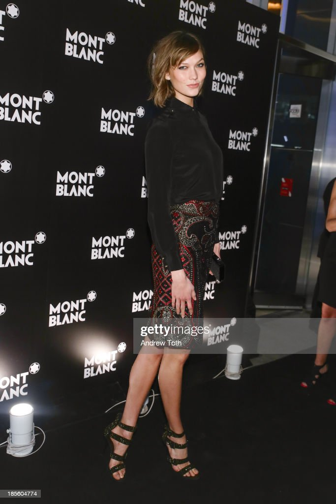 Model <a gi-track='captionPersonalityLinkClicked' href=/galleries/search?phrase=Karlie+Kloss&family=editorial&specificpeople=5555876 ng-click='$event.stopPropagation()'>Karlie Kloss</a> attends the Montblanc Madison Avenue store opening on October 22, 2013 in New York City.