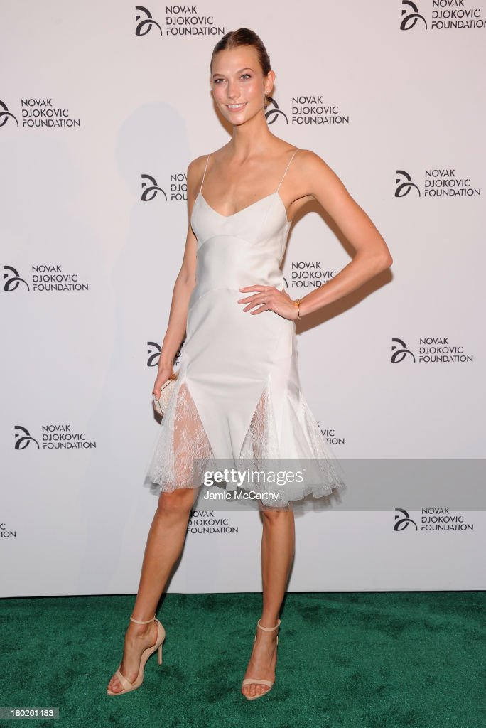 Model <a gi-track='captionPersonalityLinkClicked' href=/galleries/search?phrase=Karlie+Kloss&family=editorial&specificpeople=5555876 ng-click='$event.stopPropagation()'>Karlie Kloss</a> attends the Novak Djokovic Foundation New York dinner at Capitale on September 10, 2013 in New York City.