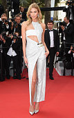 Model Karlie Kloss attends the opening ceremony and premiere of 'La Tete Haute during the 68th annual Cannes Film Festival on May 13 2015 in Cannes...