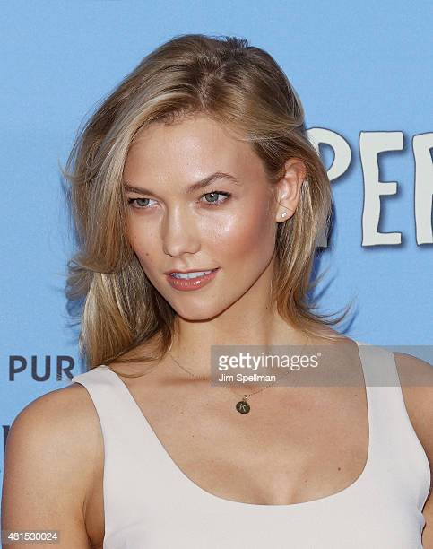 Model Karlie Kloss attends the 'Paper Towns' New York premiere at AMC Loews Lincoln Square on July 21 2015 in New York City