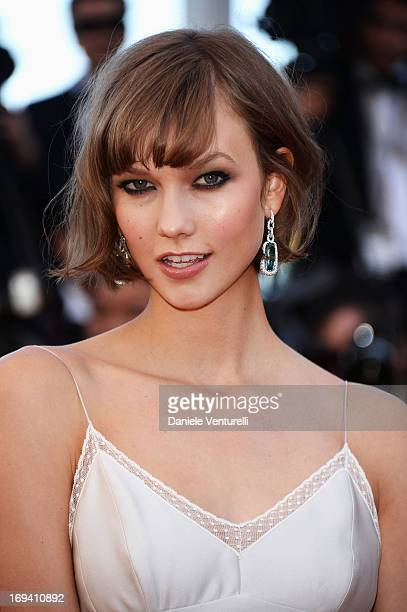 Model Karlie Kloss attends the Premiere of 'The Immigrant' at The 66th Annual Cannes Film Festival at Palais des Festivals on May 24 2013 in Cannes...
