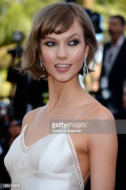 Model Karlie Kloss attends the 'The Immigrant' premiere during The 66th Annual Cannes Film Festival at the Palais des Festivals on May 24 2013 in...