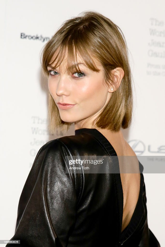 Model <a gi-track='captionPersonalityLinkClicked' href=/galleries/search?phrase=Karlie+Kloss&family=editorial&specificpeople=5555876 ng-click='$event.stopPropagation()'>Karlie Kloss</a> attends the VIP reception and viewing for The Fashion World of Jean Paul Gaultier: From the Sidewalk to the Catwalk at the Brooklyn Museum on October 23, 2013 in the Brooklyn borough of New York City.