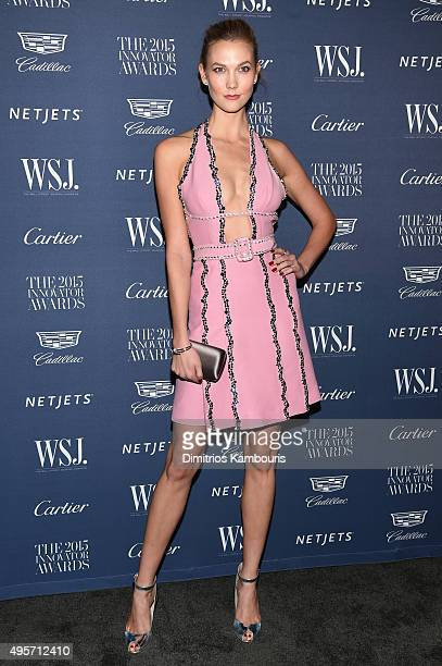 Model Karlie Kloss attends the WSJ Magazine 2015 Innovator Awards at the Museum of Modern Art on November 4 2015 in New York City