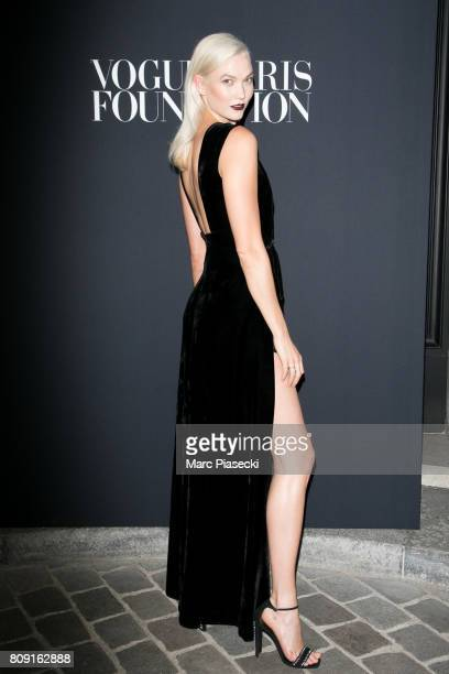 Model Karlie Kloss attends Vogue Foundation Dinner during Paris Fashion Week as part of Haute Couture Fall/Winter 20172018 at Musee Galliera on July...