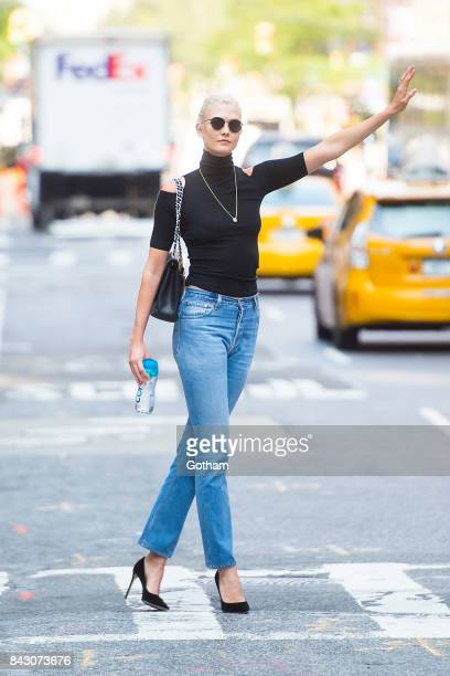 Model Karlie Kloss is seen in Midtown on September 5 2017 in New York City