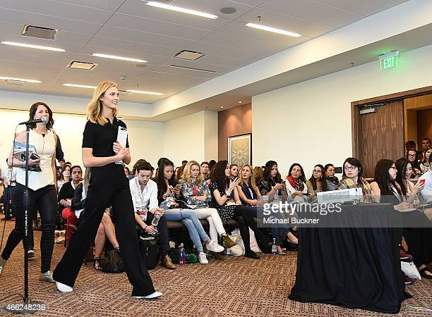 Model Karlie Kloss speaks at the panel for SXSWStyle 'How Technology Colonized Fashion Week during the 2015 SXSW Music Film Interactive Festival at...