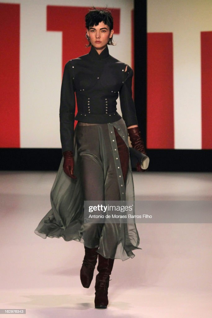 Model Karlie Kloss walks the runway during the Jean Paul Gaultier Fall/Winter 2013 Ready-to-Wear show as part of Paris Fashion Week on March 2, 2013 in Paris, France.
