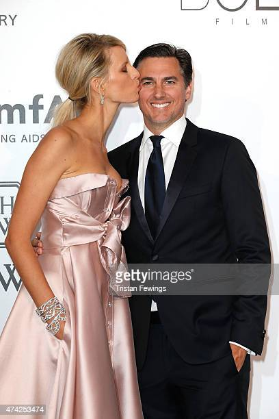 Model Karolina Kurkova and Archie Drury attend amfAR's 22nd Cinema Against AIDS Gala Presented By Bold Films And Harry Winston at Hotel du CapEdenRoc...