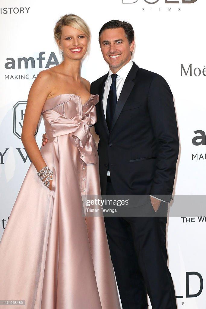 Model Karolina Kurkova and Archie Drury attend amfAR's 22nd Cinema Against AIDS Gala Presented By Bold Films And Harry Winston at Hotel du CapEdenRoc...