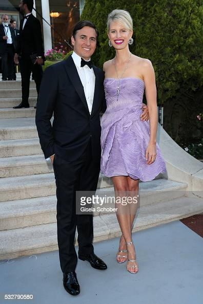 Model Karolina Kurkova and Archie Drury attend the amfAR's 23rd Cinema Against AIDS Gala at Hotel du CapEdenRoc on May 19 2016 in Cap d'Antibes France