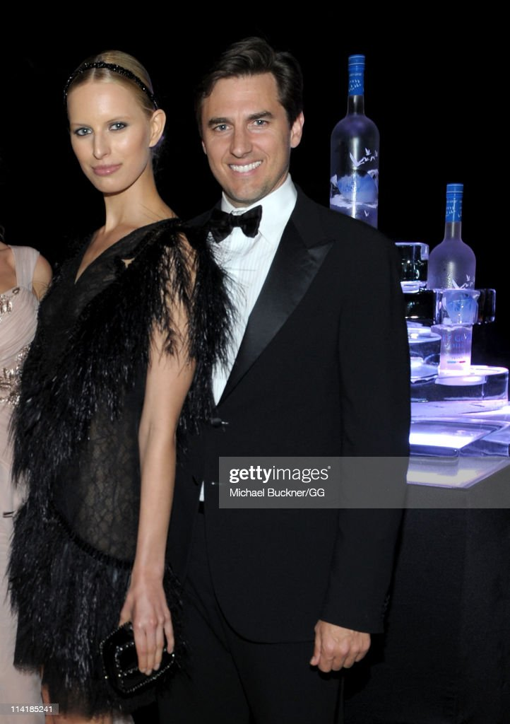 Model Karolina Kurkova (L) and Archie Drury attend the CAA Party with Grey Goose at Soho House Cannes in celebration of the 64th Annual Cannes Film Festival at Villa Eilenroc on May 14, 2011 in Cannes, France.