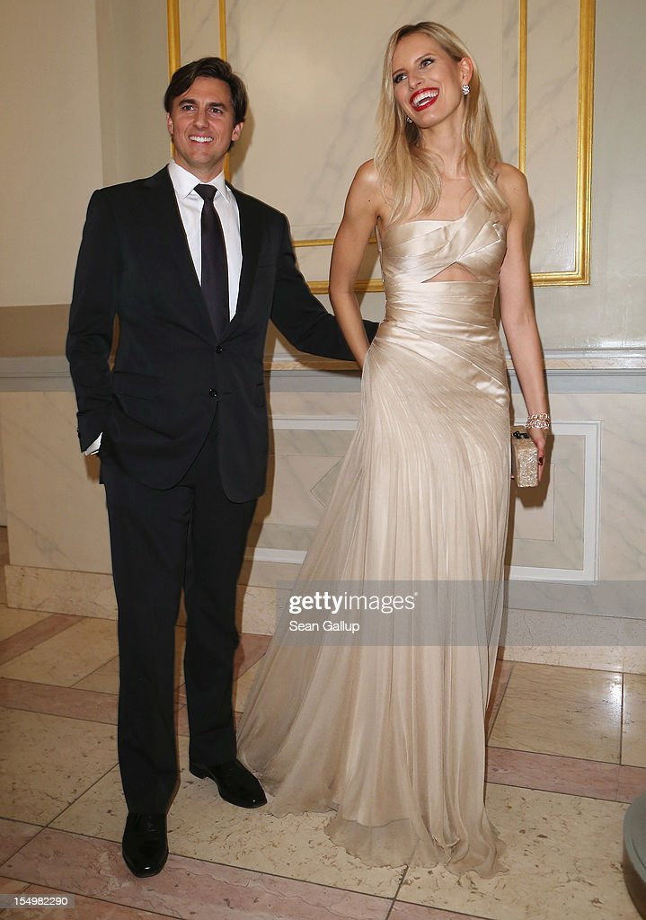 Model <a gi-track='captionPersonalityLinkClicked' href=/galleries/search?phrase=Karolina+Kurkova&family=editorial&specificpeople=202513 ng-click='$event.stopPropagation()'>Karolina Kurkova</a> and Archie Drury attend the Prix Montblanc 2012 at the Konzerthaus am Gendarmenmarkt on October 29, 2012 in Berlin, Germany.