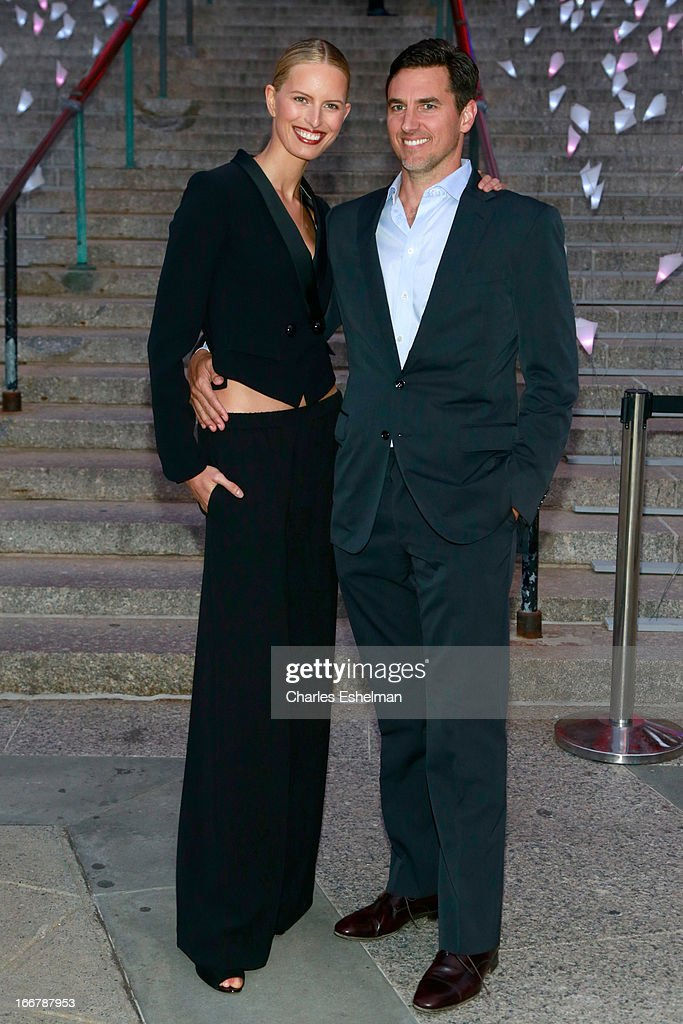 Model <a gi-track='captionPersonalityLinkClicked' href=/galleries/search?phrase=Karolina+Kurkova&family=editorial&specificpeople=202513 ng-click='$event.stopPropagation()'>Karolina Kurkova</a> and Archie Drury attend the Vanity Fair Party during the 2013 Tribeca Film Festival at the State Supreme Courthouse on April 16, 2013 in New York City.