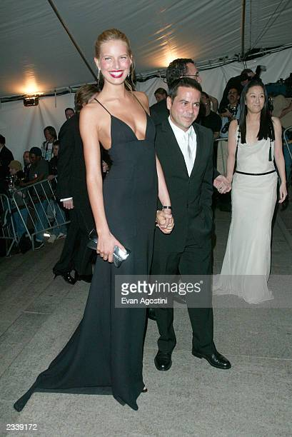 Model Karolina kurkova and designer Narciso Rodriguez arrive at the Metropolitan Museum of Art Costume Institute Benefit Gala sponsored by Gucci...