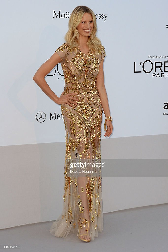 Model <a gi-track='captionPersonalityLinkClicked' href=/galleries/search?phrase=Karolina+Kurkova&family=editorial&specificpeople=202513 ng-click='$event.stopPropagation()'>Karolina Kurkova</a> arrives at the 2012 amfAR's Cinema Against AIDS during the 65th Annual Cannes Film Festival at Hotel Du Cap on May 24, 2012 in Cap D'Antibes, France.