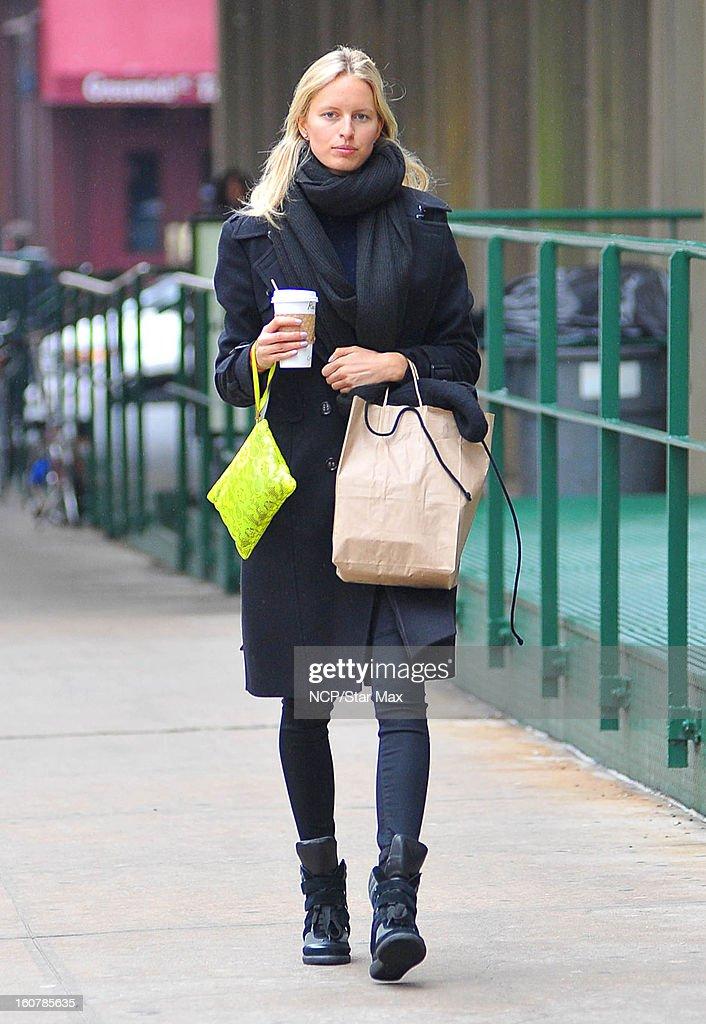Model Karolina Kurkova as seen on February 5, 2013 in New York City.