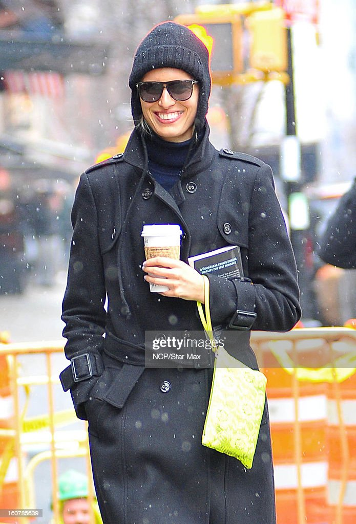 Model Karolina Kurkova as seen on February 5, 2013 in New York City.