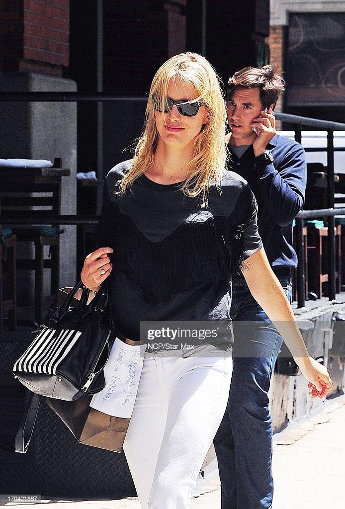 Model Karolina Kurkova as seen on June 12, 2013 in New York City.
