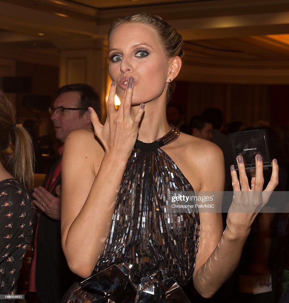 Model Karolina Kurkova at the NBCUniversal 2013 TCA Winter Press Tour Party held at The Langham Huntington Hotel and Spa on January 6, 2013 in Pasadena, California.