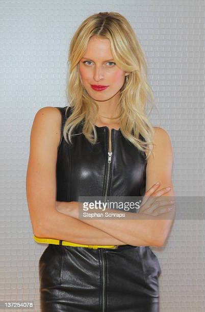 Model Karolina Kurkova attend a photocall in advance of the upcoming VoxTV casting show 'Das perfekte Model' on January 17 2012 in Berlin Germany
