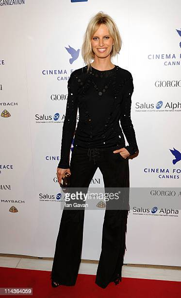 Model Karolina Kurkova attends Cinema For Peace during the 64th Annual Cannes Film Festival on May 18 2011 in Cannes France