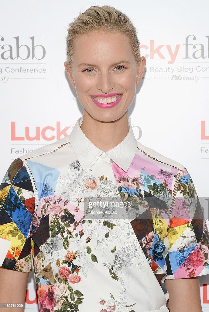 Model Karolina Kurkova attends Lucky