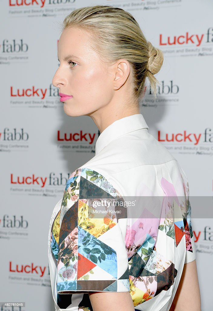 Model Karolina Kurkova (hair detail) attends Lucky
