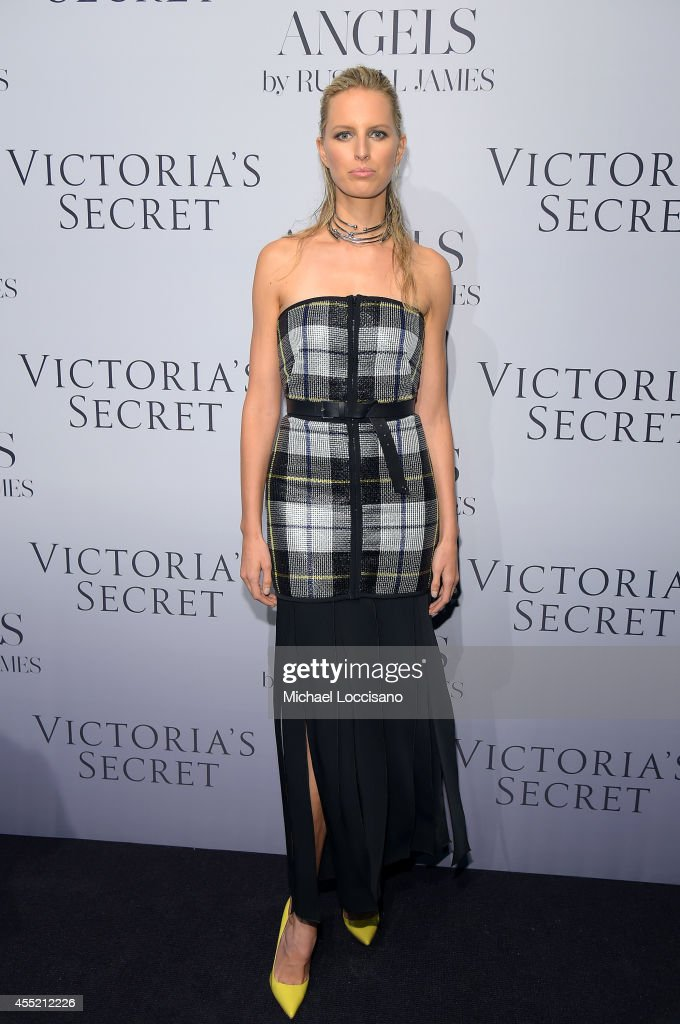 Model Karolina Kurkova attends Russell James' 'Angels' book launch hosted by Victoria's Secret on September 10 2014 in New York City
