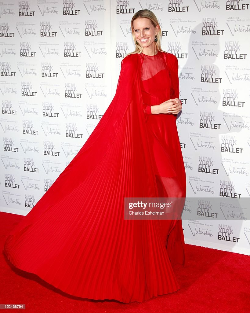 Model Karolina Kurkova attends the 2012 New York City Ballet fall gala at David H. Koch Theater, Lincoln Center on September 20, 2012 in New York City.