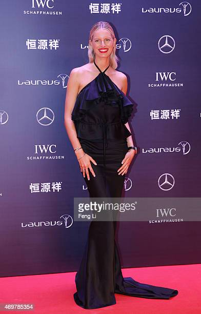 Model Karolina Kurkova attends the 2015 Laureus World Sports Awards at Shanghai Grand Theatre on April 15 2015 in Shanghai China