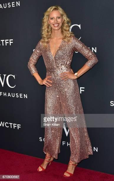 Model Karolina Kurkova attends the 5th Annual IWC Schaffhausen Tribeca Film Festival 'For The Love Of Cinema' Gala at Spring Studios on April 20 2017...