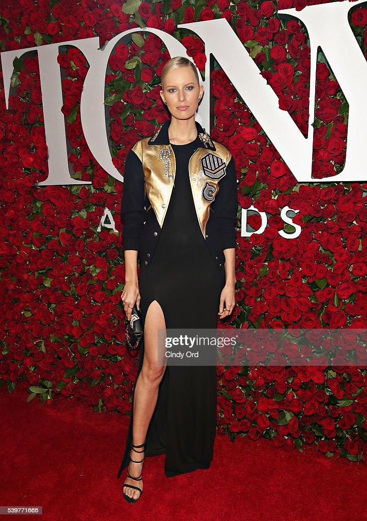 Model Karolina Kurkova attends the 70th Annual Tony Awards at The Beacon Theatre on June 12 2016 in New York City