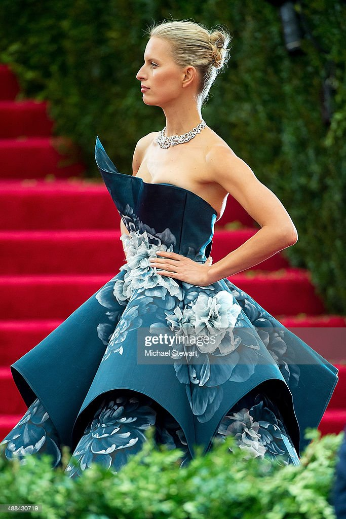 Model Karolina Kurkova attends the 'Charles James: Beyond Fashion' Costume Institute Gala at the Metropolitan Museum of Art on May 5, 2014 in New York City.