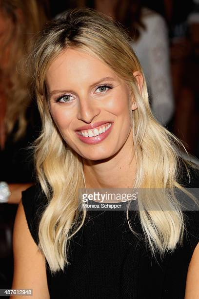 Model Karolina Kurkova attends the Desigual fashion show during Spring 2016 New York Fashion Week The Shows at The Arc Skylight at Moynihan Station...