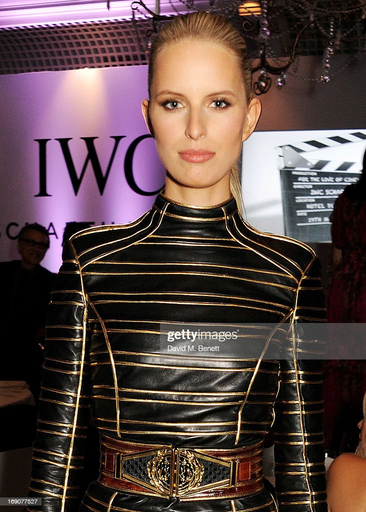 Model Karolina Kurkova attends the exclusive 'For The Love Of Cinema' event hosted by Swiss luxury watch manufacturer IWC Schaffhausen at the famous Hotel du Cap-Eden-Roc on May 19, 2013 in Antibes, France.