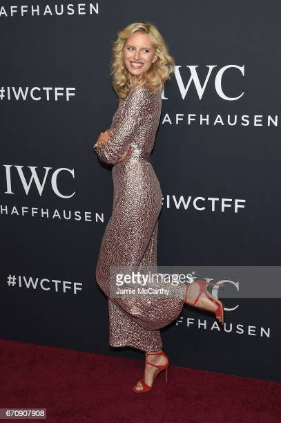 Model Karolina Kurkova attends the exclusive gala event 'For the Love of Cinema' during the Tribeca Film Festival hosted by luxury watch manufacturer...