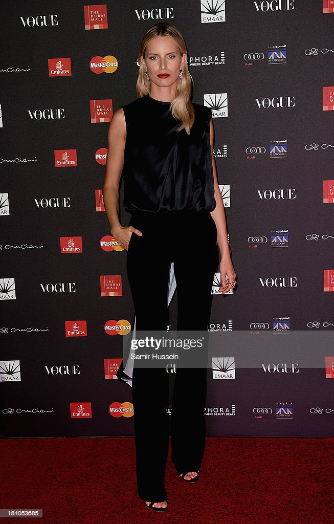 Model <a gi-track='captionPersonalityLinkClicked' href=/galleries/search?phrase=Karolina+Kurkova&family=editorial&specificpeople=202513 ng-click='$event.stopPropagation()'>Karolina Kurkova</a> attends the gala dinner at the Armani Pavilion during Vogue Fashion Dubai Experience on October 10, 2013 in Dubai, United Arab Emirates.