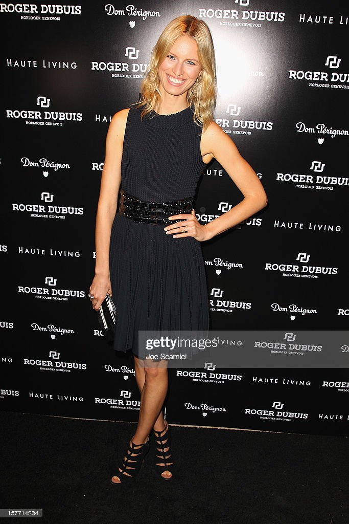 Model <a gi-track='captionPersonalityLinkClicked' href=/galleries/search?phrase=Karolina+Kurkova&family=editorial&specificpeople=202513 ng-click='$event.stopPropagation()'>Karolina Kurkova</a> attends the Haute Living and Roger Dubuis dinner hosted by Daphne Guinness at Azur on December 5, 2012 in Miami Beach, Florida.