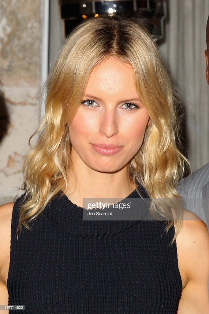 Model Karolina Kurkova attends the Haute Living and Roger Dubuis dinner hosted by Daphne Guinness at Azur on December 5, 2012 in Miami Beach, Florida.