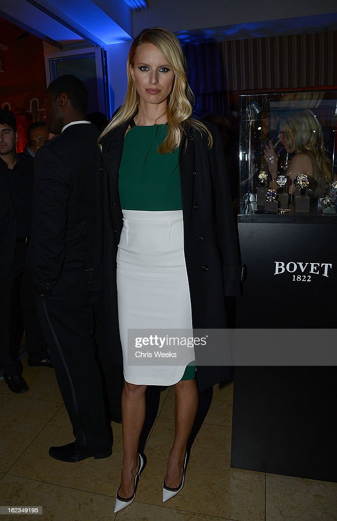 Model Karolina Kurkova attends the Hollywood Domino and Bovet 1822 Gala benefiting Artists For Peace And Justice at Sunset Tower on February 21, 2013 in West Hollywood, California.