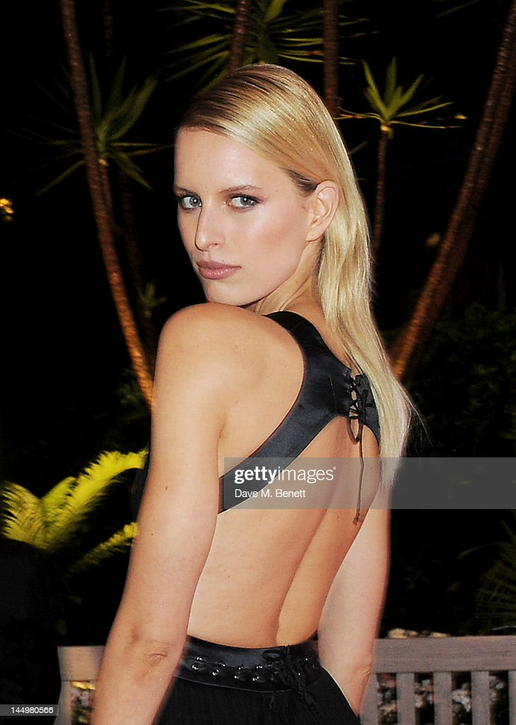 Model Karolina Kurkova attends the IWC and Finch's Quarterly Review Annual Filmmakers Dinner at Hotel Du Cap-Eden Roc on May 21, 2012 in Antibes, France.
