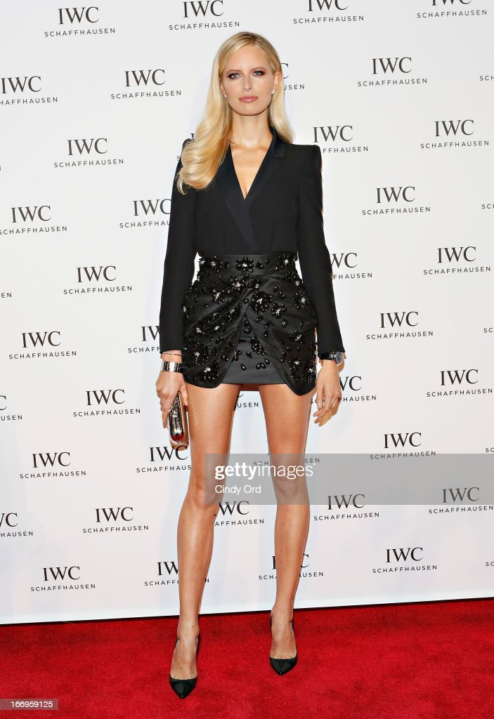Model <a gi-track='captionPersonalityLinkClicked' href=/galleries/search?phrase=Karolina+Kurkova&family=editorial&specificpeople=202513 ng-click='$event.stopPropagation()'>Karolina Kurkova</a> attends the IWC and Tribeca Film Festival 'For the Love of Cinema' celebration at Urban Zen on April 18, 2013 in New York City.