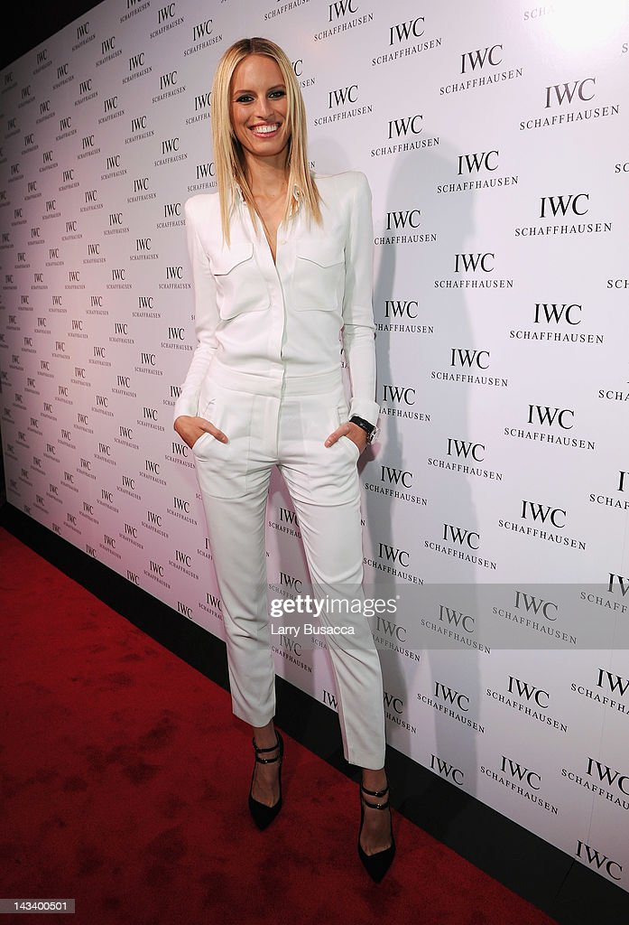 Model <a gi-track='captionPersonalityLinkClicked' href=/galleries/search?phrase=Karolina+Kurkova&family=editorial&specificpeople=202513 ng-click='$event.stopPropagation()'>Karolina Kurkova</a> attends the IWC Flagship Boutique New York City Grand Opening at IWC Boutique on April 25, 2012 in New York City.