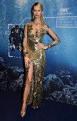 Model Karolina Kurkova attends the IWC 'Inside The Wave' Gala event during the Salon International de la Haute Horlogerie 2014 at Palexpo on January...